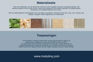 modulinq visual website - 3 - voorbeeld materialen